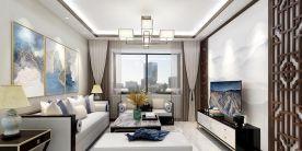 西宁海德堡中式混搭三室装修效果图展示
