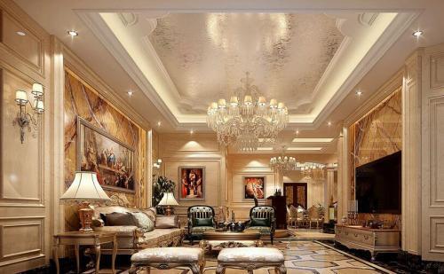 福州三居室欧式风格装修,除了奢华还有精致内在