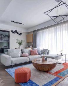 海口现代简约148平三居装修,静谧优雅,让相处更自在舒服!