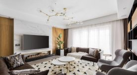 西宁香格里拉现代风格三室装修,简单精致有格调