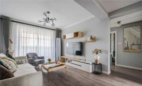 西宁海量大都汇北欧风格二居装修,温馨雅致的生活感觉