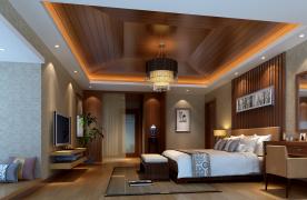 东莞古典新中式四居室装修效果图展示