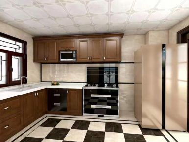 廣州古典中式風格廚房裝修案例