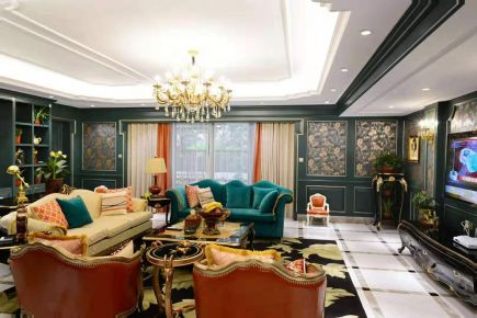 东莞复古欧式混搭四居室装修案例展示