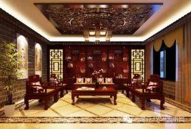 石家庄江南新城别墅复古优雅中式风格装修