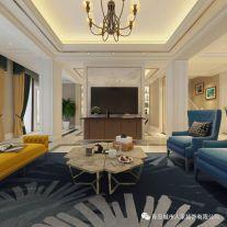 青岛龙湖·悠山郡简欧式风格三居室装修案例图