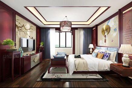 廊坊胜芳御花园新中式三居装修,纷繁都市中的诗意栖居!