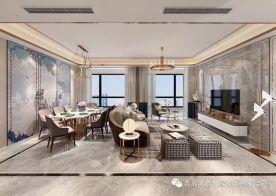 青岛青特小镇现代轻奢风格四居室装修案例图