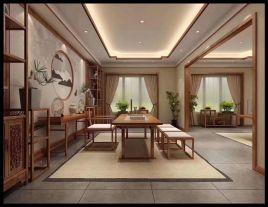 廊坊大学里别墅新中式风格装修,富有东方韵味的浪漫家居