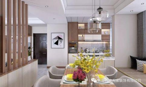 青岛海山慧谷现代简约风格二居室装修案例图