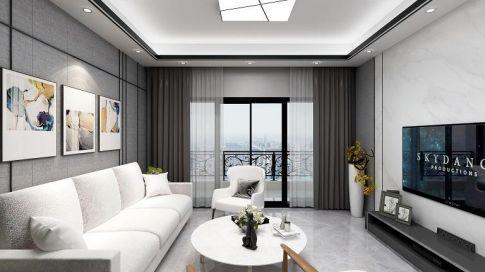 惠州国汇山82㎡现代简约三室装修效果图展示