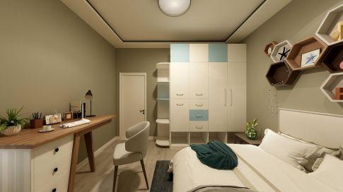西安东方美装饰温馨现代简约两室装修案例