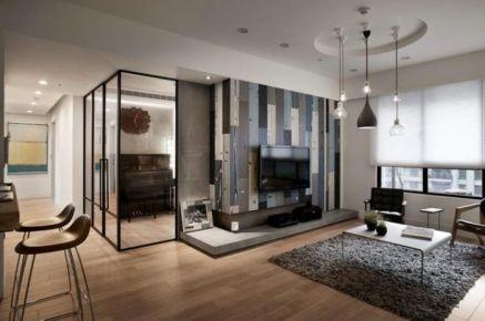 福州时尚大气现代风格三居装修案例展示