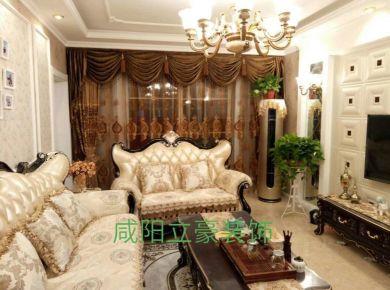 咸阳古典欧式浪漫110平三居室装修案例