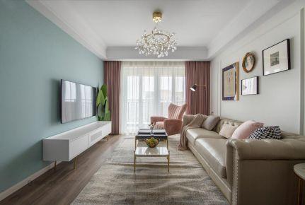 重庆康桥融府75平现代北欧风格三室装修效果图