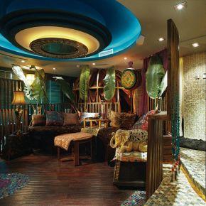福州浓郁色彩东南亚异域风情三室装修效果图