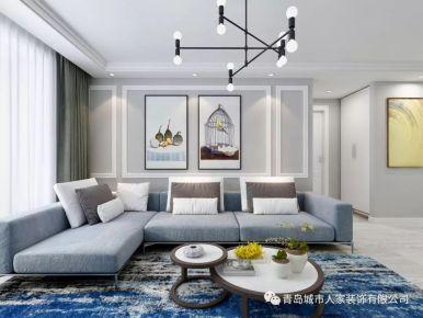 青岛天一仁和印象现代风格二居室装修案例图