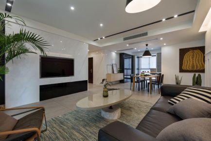 广州时尚简约现代风格两居室装修效果图
