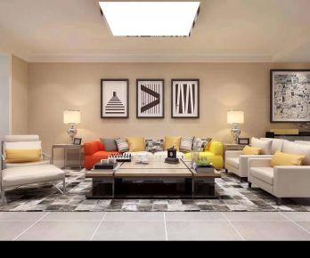 廊坊89平米现代风格二居室装修案例,温馨惬意的舒适生活