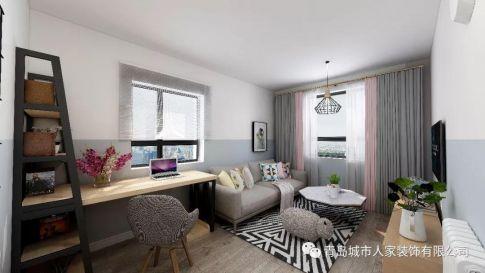 青岛伊春路现代简约风格一居室装修案例图