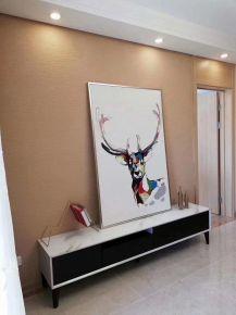 廊坊108平简约现代三居室装修效果图