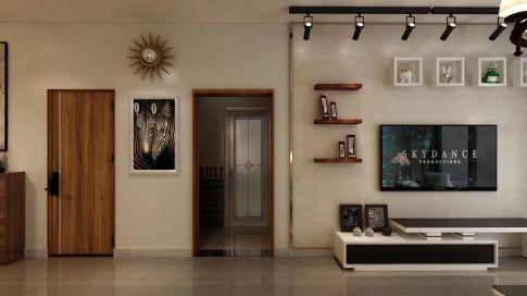 廊坊学府澜湾76平米复古温馨二居室装修效果图