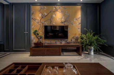 廊坊126平米轻奢古典新中式四居室装修案例