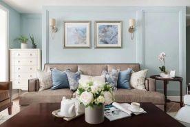 昆明美式田园风格四居室装修,自然的田园气息让人身心清爽!
