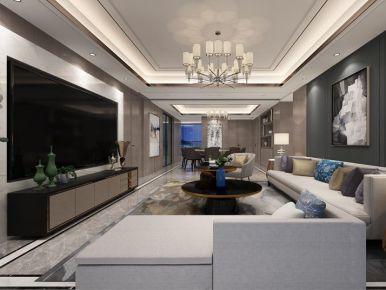 南通雅致新中式风格四居室装修效果图