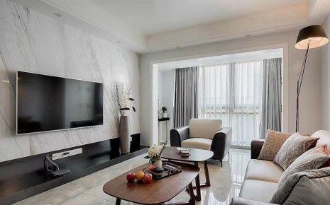 淮安现代简约三居室装修效果图案例
