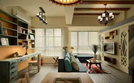 淮安美式田园风格二居室装修案例