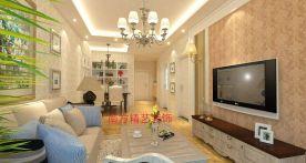 保定幸福小區簡約歐式三居室裝修案例