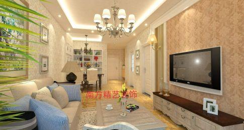 保定幸福小区简约欧式三居室装修案例