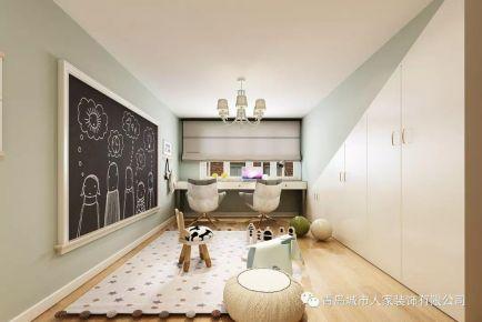 青島西韓新苑溫馨現代簡約風格四居室裝修