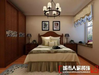 青岛橄榄城美式风格三居室装修案例图
