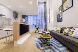 福州62平米現代簡約小復式裝修,溫馨舒適,一抹檸檬黃點亮了整個家
