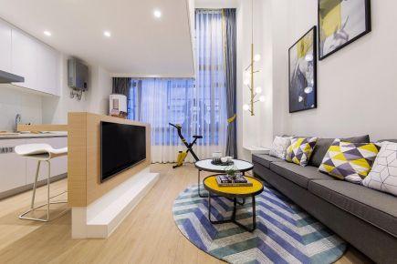 福州62平米现代简约小复式装修,温馨舒适,一抹柠檬黄点亮了整个家