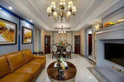 贵阳128平复古质感美式三室装修案例