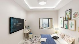 鄭州天譽華庭現代風格高級灰三室裝修案例