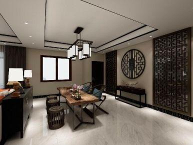 郑州复古雅致中式风格三居室装修案例