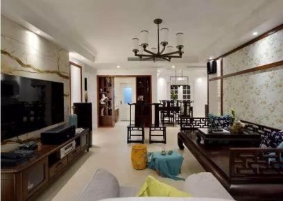 武汉古典雅致新中式风格三居装修案例