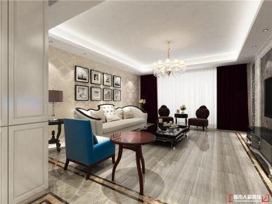 青岛金帝山庄美式风格三居室装修风格案例图