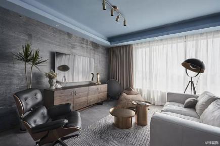 长沙现代风格灰色系108㎡雅居装修,越灰越有格调!