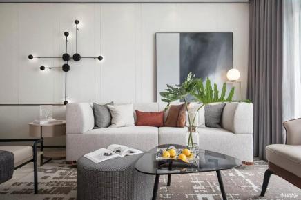 长沙现代简约三室装修,现代风遇到高级灰,简直就是奢侈品