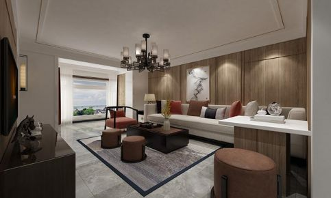 大连新中式风格两室装修案例,时尚与传统并存太美了!