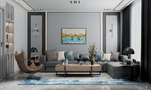 大连高级时尚现代风格三室装修效果图