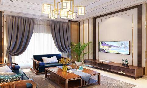 大连中式风格三室装修,稳重大气,呈现出浓浓的东方情调