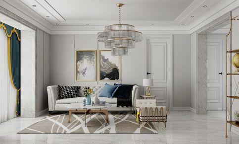 大连简约轻奢美式三室装修,幸福感满满的精致空间