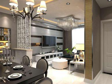 石家庄荣盛华府,黑白现代风格装修,时尚前卫、简约高级居住空间!