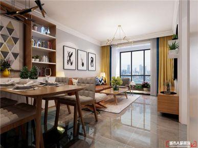 青岛依山伴城简美风格二居室装修案例图